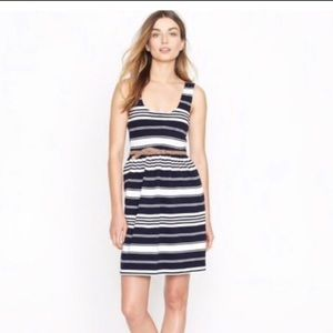 J.crew navy&white striped dress